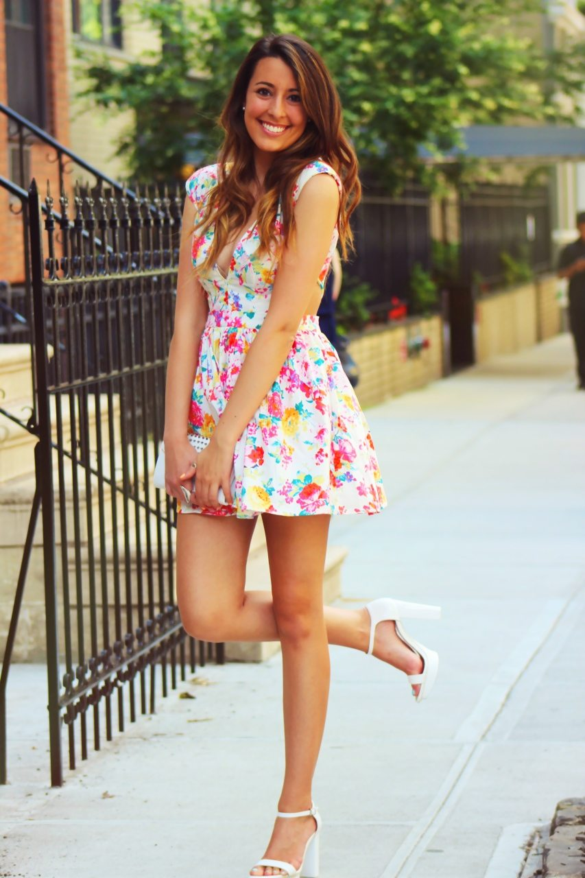 Cute Backyard Party Outfits : really into platform heels this summer, and these white ankle