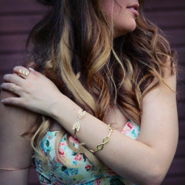 potissi chevron gold jewelry cute summer outfit