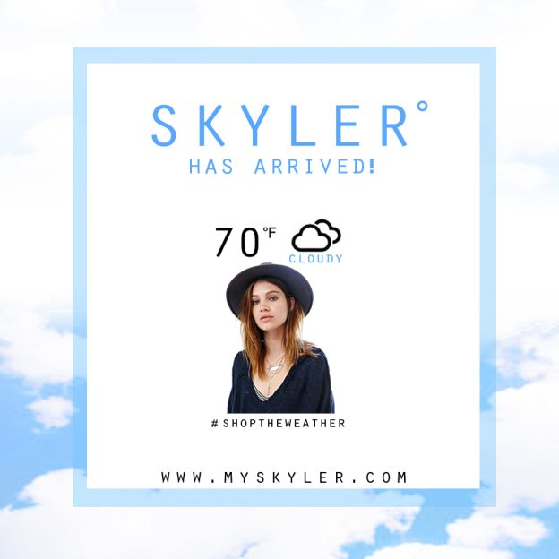 SKYLER Shop the weather app