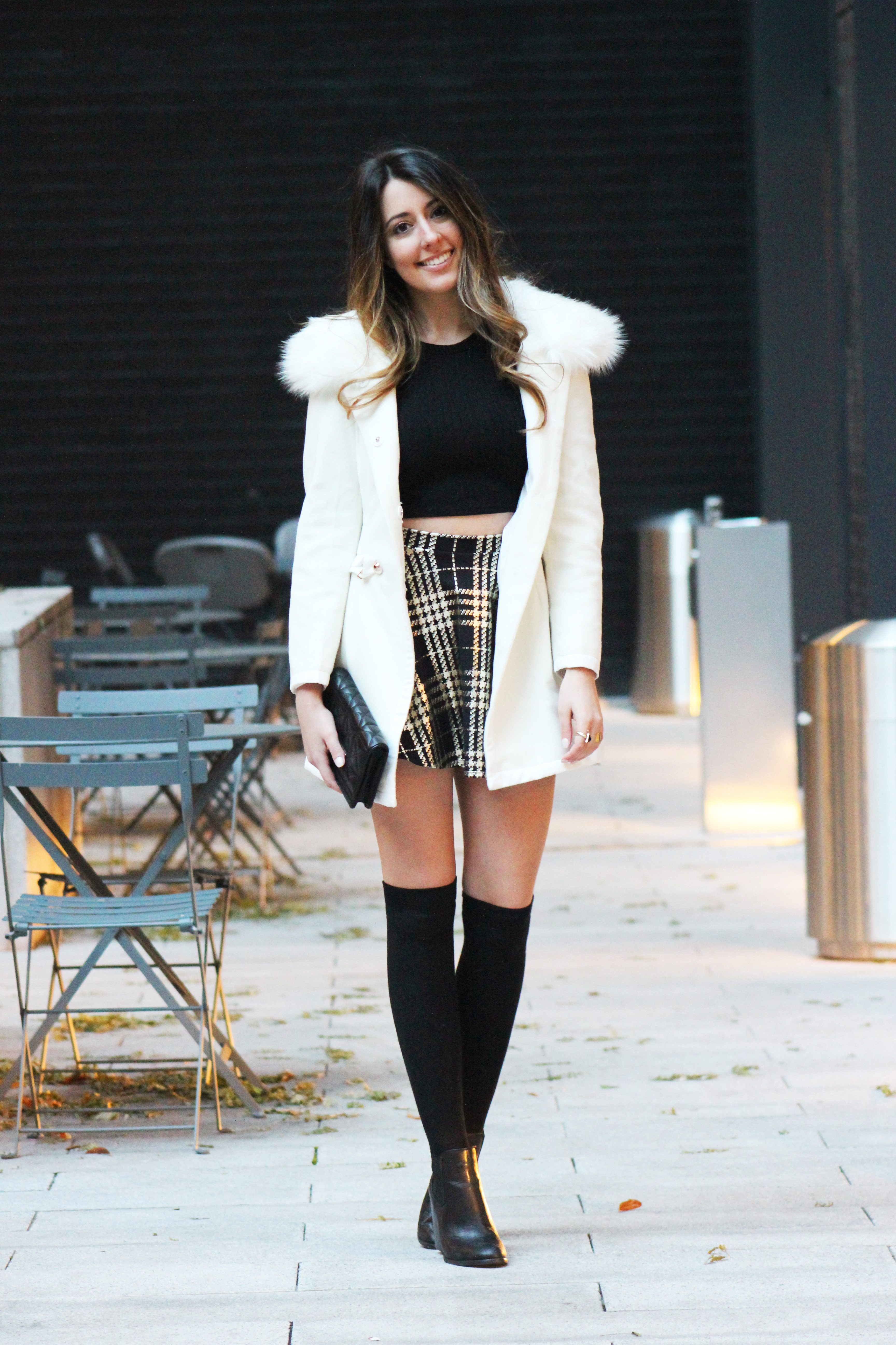 Ariana Grande inspired school girl snow bunny outfit