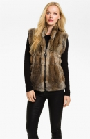 Linda Richards Reversible Genuine Rabbit FUr Front Vest