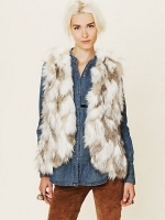 Free People Call of the Wild Fur Vest
