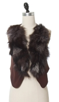 Fur Trim Vest at ChloeLovesCharlie
