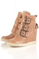 APPLAUSE MULTI BUCKLE WEDGES