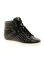 ALDO Helianthe Black Studded Wedge Sneakers