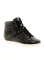 ALDO Helianthe Black Studded Wedge Sneakers