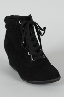 Speed-02 Lace Up Round Toe Wedge Sneaker