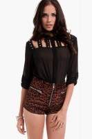 Barbwire Button Up Blouse