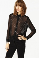 Metallic Stud Blouse