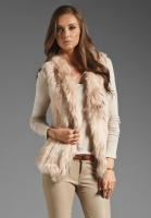 WISH Atlanta Fur Vest in Cameo