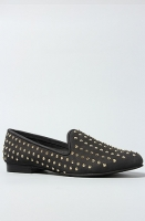 The Lana Shoe in Black With Gold Studs by Matiko Shoes
