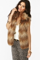 Erica Faux Fur Vest at NastyGal