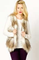 Faux Fur Vest at A-Thread