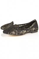 MERCURY METALLIC LACE SLIPPERS