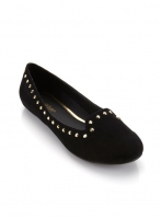 LONDON BLACK STUD SLIPPER