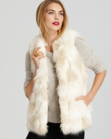 French Connection Vest - Fritter Faux Fur