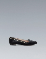 Studded Pony Skin Slipper