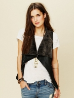 Muubaa Leather Vest at Free People
