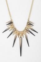 Sunset Spike & Skull Necklace