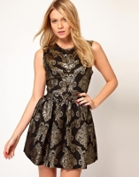 Oasis Baroque Jacquard Dress