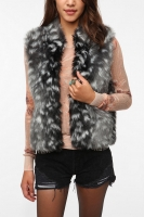Pins & Needles Faux Fur Vest at Urban Outfitters