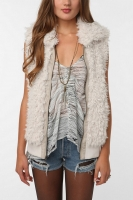 Faux Fur Vest at Urban Outfitters
