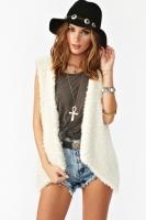 Sienna Faux Fur Vest at NastyGal