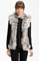 Damselle Rabbit & Fox Fur Vest