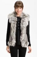 Damselle Rabbit & Fox Fur Vest