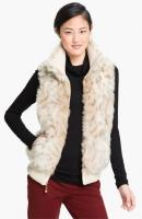 Ellen Tracy Faux Snow Leopard Vest