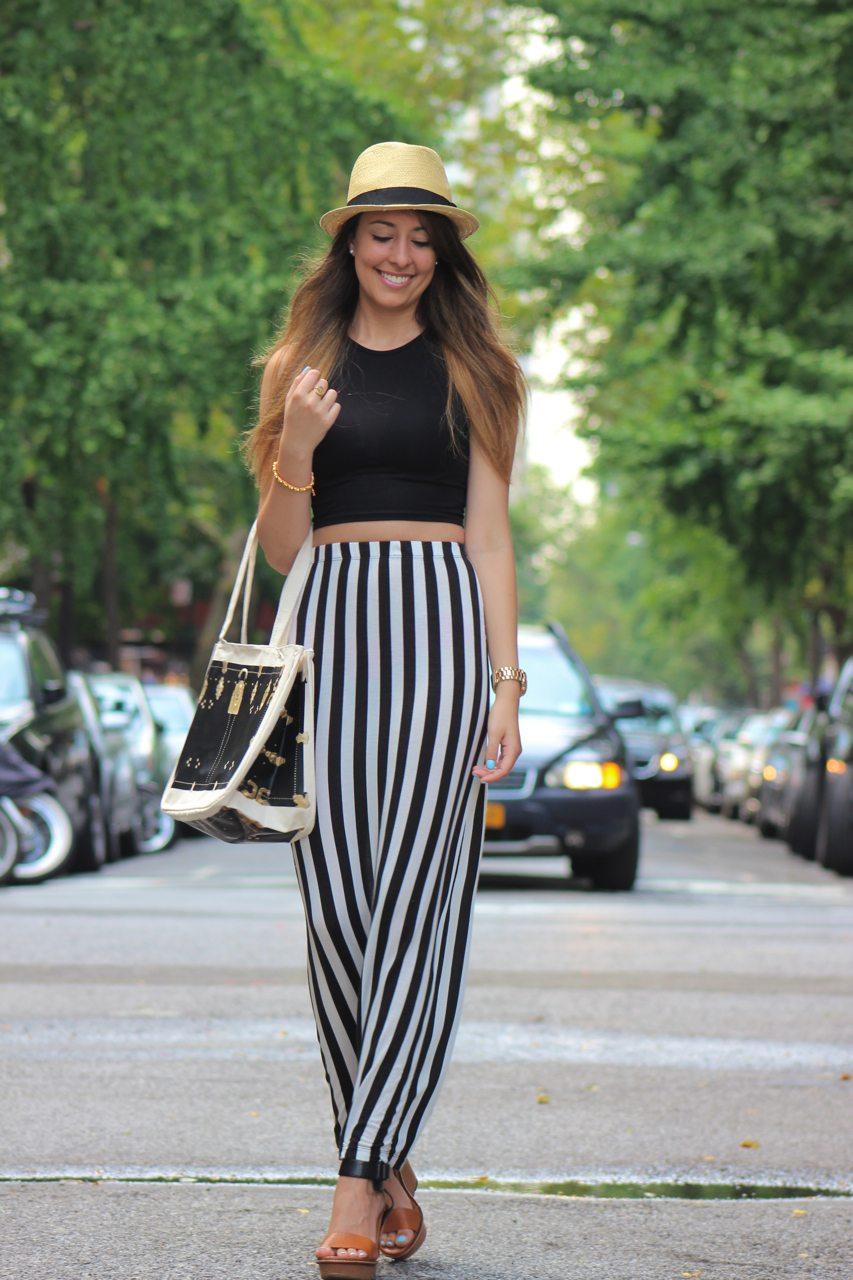 f49db987c20e Summertime Stripes on Fashion HotBox: Brandy Melville Maxi Skirt, Boohoo  Crop top, BDG