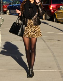 fc4727a1d30f Cute leopard print winter street style outfit