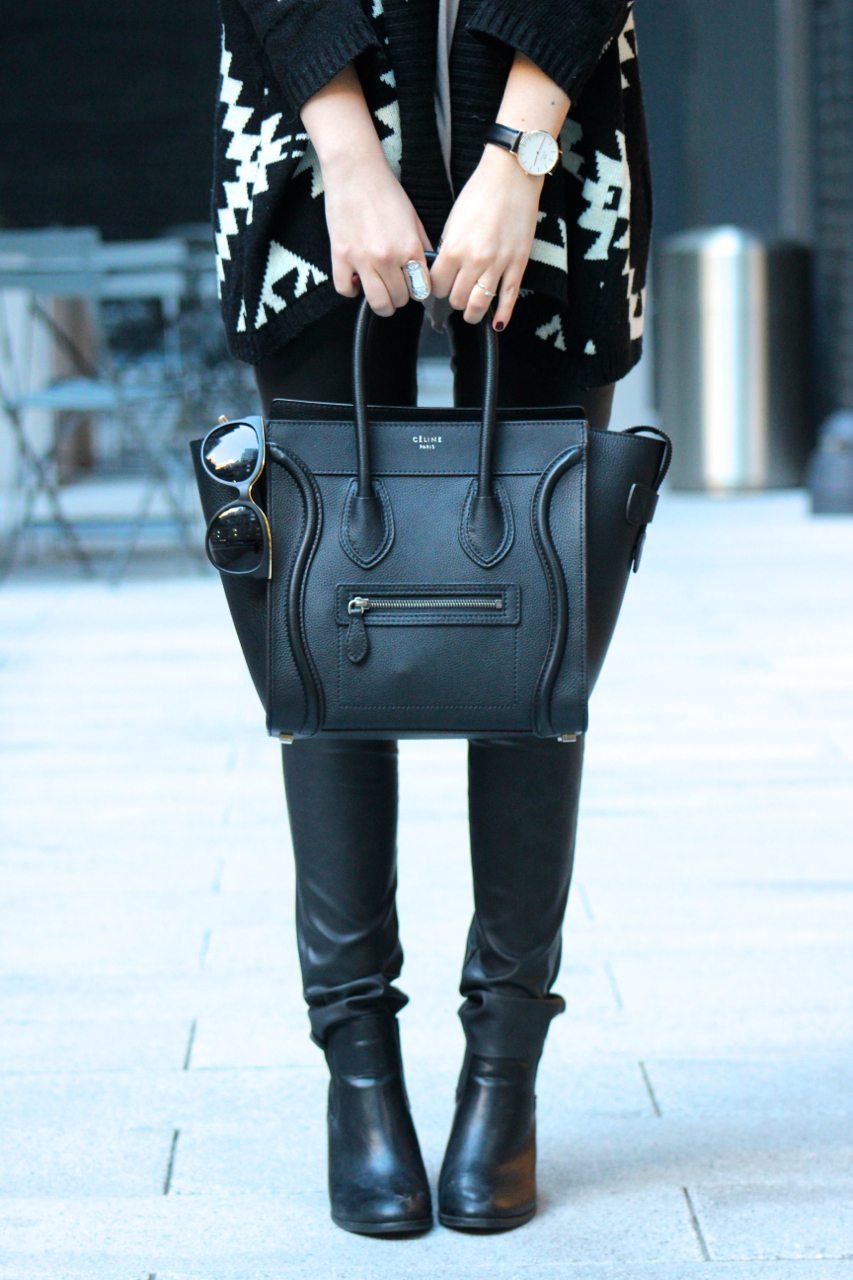c19638821ffb ... buy from the retail store  edgy fall outfit with leather pants and  oversized sweater I have made the mistake of buying a designer handbag ...